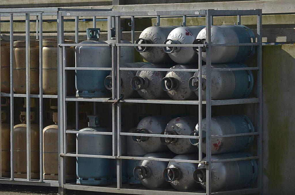 Bouteilles de gaz butane et propane